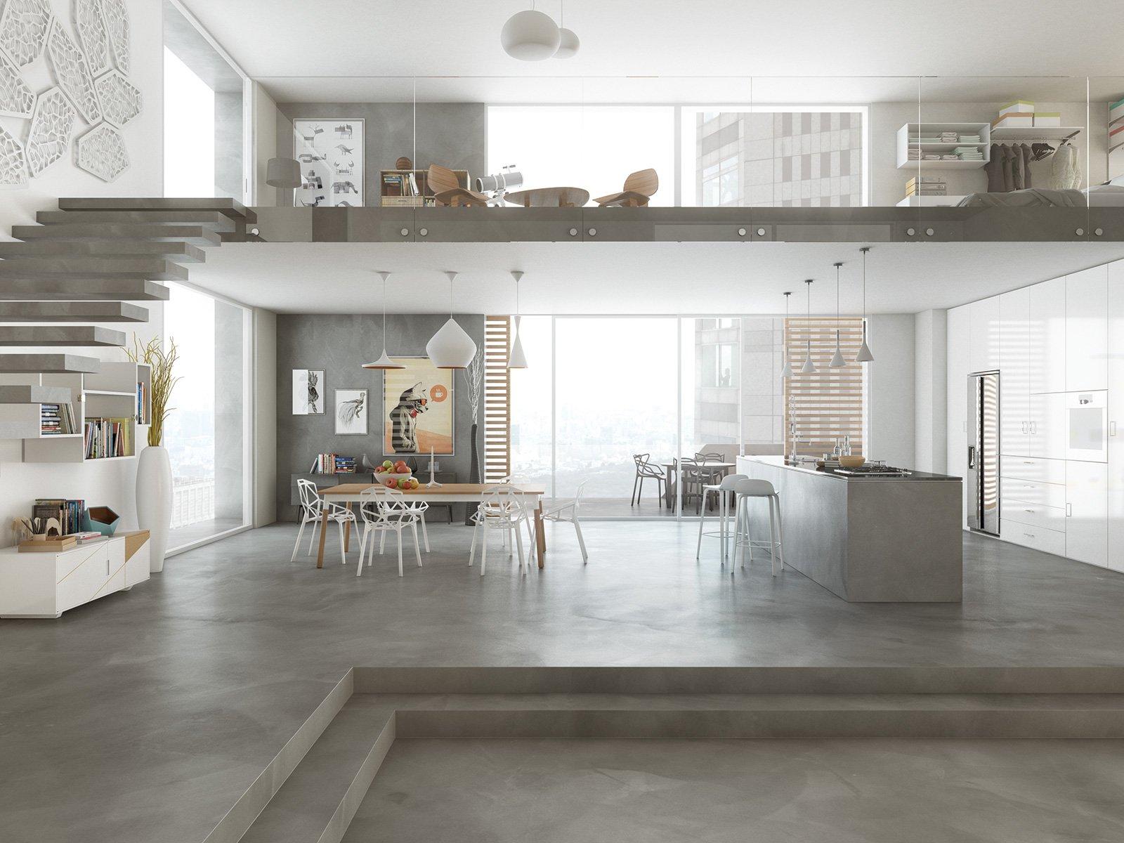 Resina rivestimenti per pavimenti pareti piani di for Piani di casa con design loft
