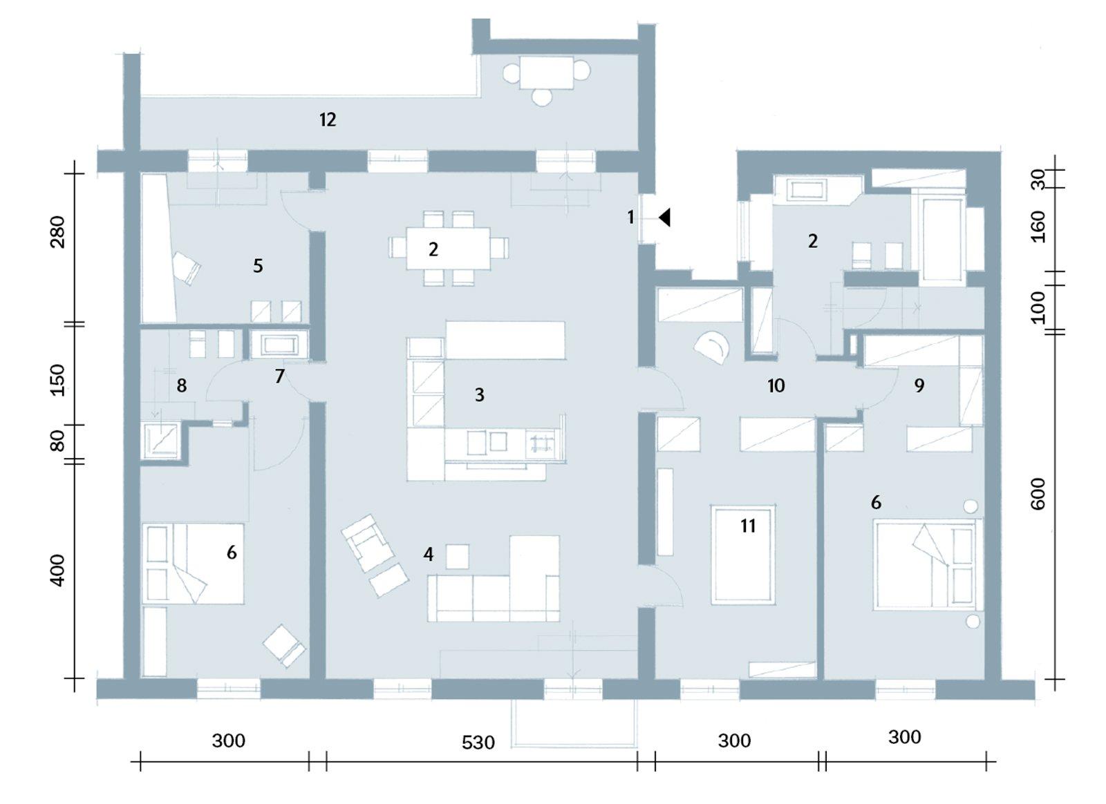 140 mq volumi geometrici per dividere gli spazi cose di - Progetto casa 3d gratis ...