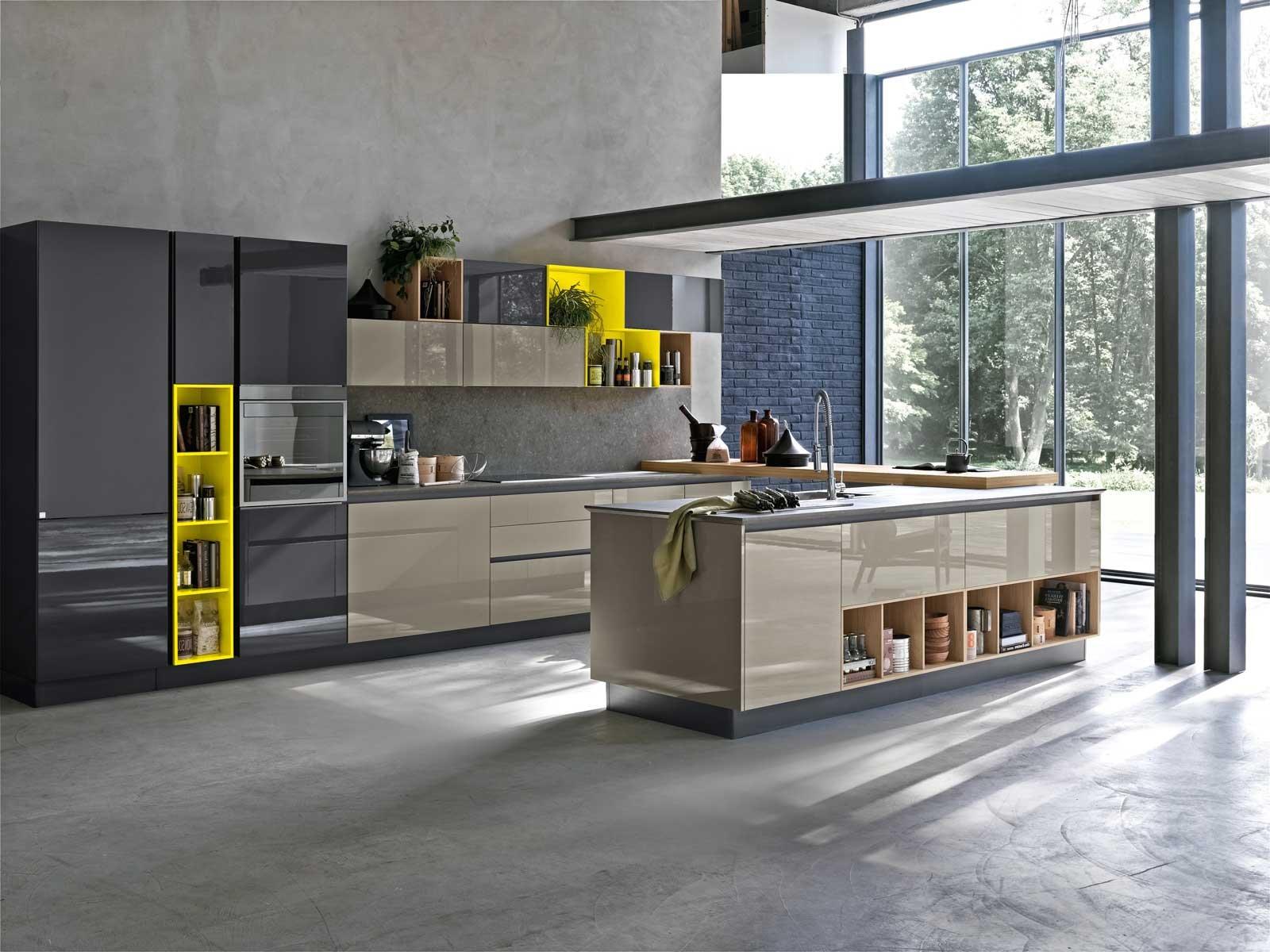 Design lineare e superfici lisce per la cucina dallo stile minimale ...