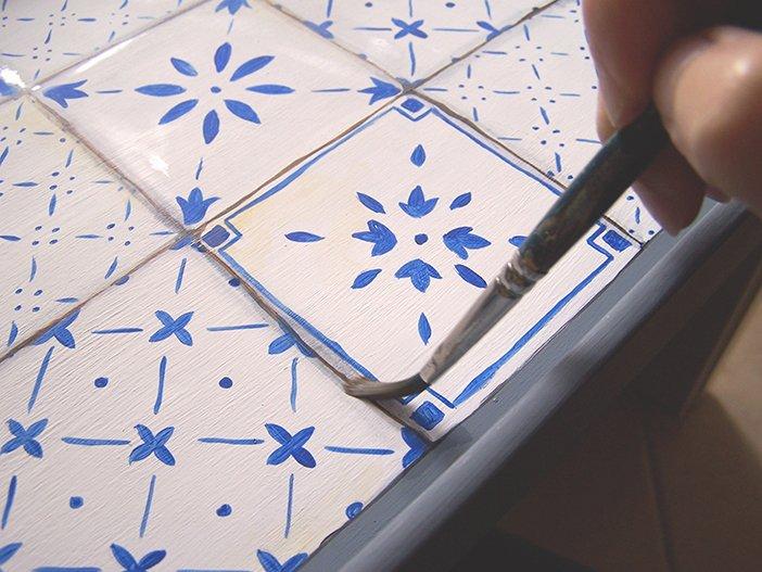 Vassoio decor con piastrelle disegnate cose di casa for Piastrelle disegnate