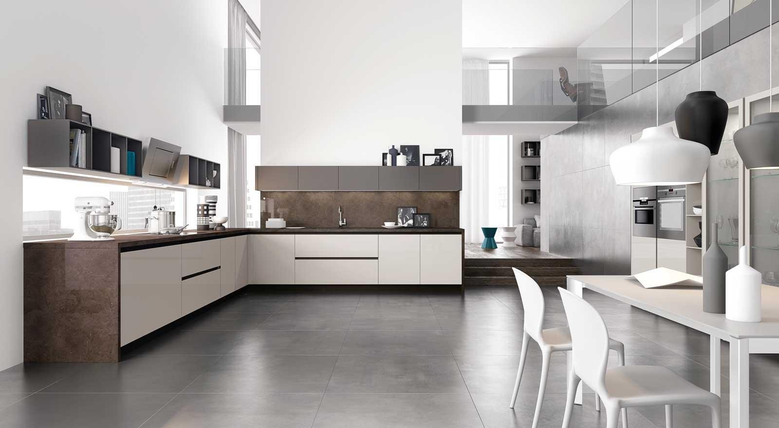 Design Lineare E Superfici Lisce Per La Cucina Dallo Stile Minimale  #214F5D 1600 880 Arredamento Moderno Per Cucine