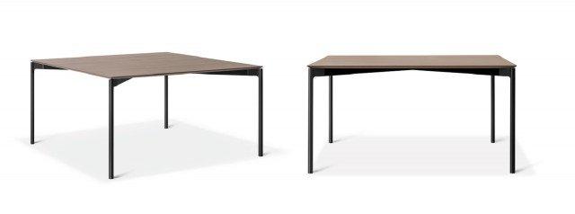 Luce (design Piero Lissoni, art director Lema) è un tavolo dalle dimensioni elegantemente contenute, di impronta assolutamente contemporanea seppure con ispirazioni vagamente retrò. Piano in legno e struttura in alluminio pressofuso si identificano nell'assoluta leggerezza del disegno, data da volumi e spessori minimi.