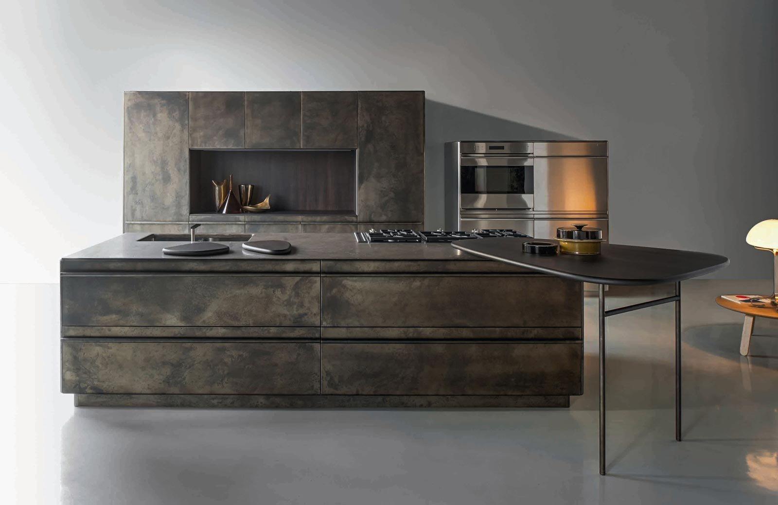 Eurocucina 2016 superfici soft touch per le nuove cucine - Cucine con isola centrale ...