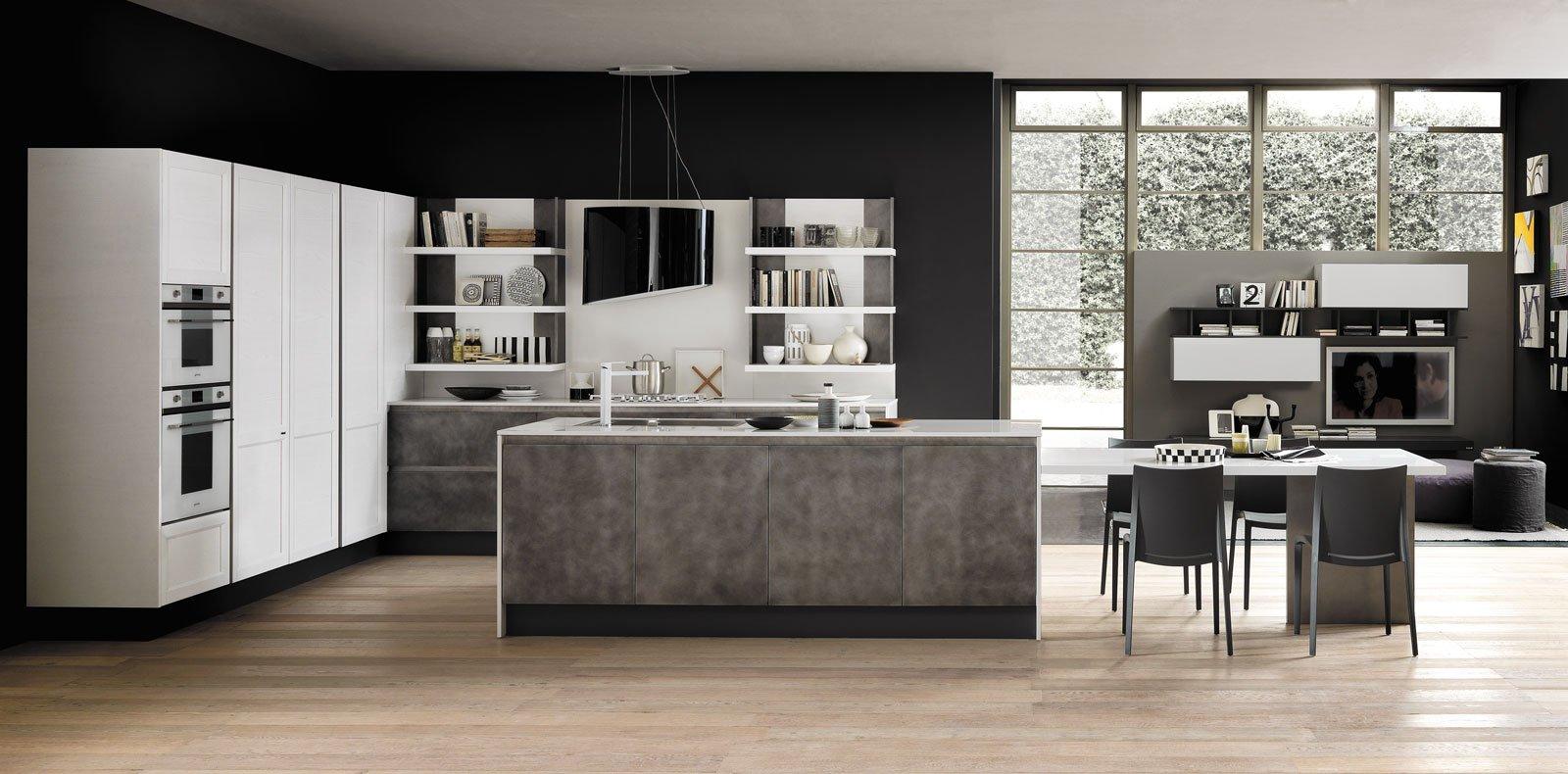 Cucine in grigio di inaspettata freschezza novit - Top cucina grigio ...