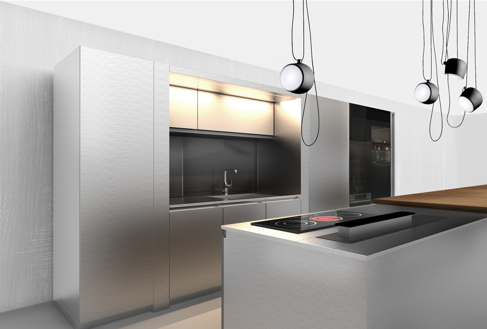 Credenza Da Abbinare A Cucina Moderna : Cucine in grigio di inaspettata freschezza novità eurocucina