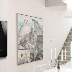 La caldaia Osa S (slim) di Unical è dotata di U-Fly App per la gestione remota tramite home wifi da smartphone e tablet. Il pannello frontale in varie colorazioni è sostituibile. Produce 13/3 litri al minuto di acqua calda in classe A ed è disponibile anche nella potenza di 35 kw. Misura L 52 x P 18 x H 93 cm.