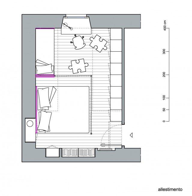 progetti: ricavare la cameretta nella camera matrimoniale