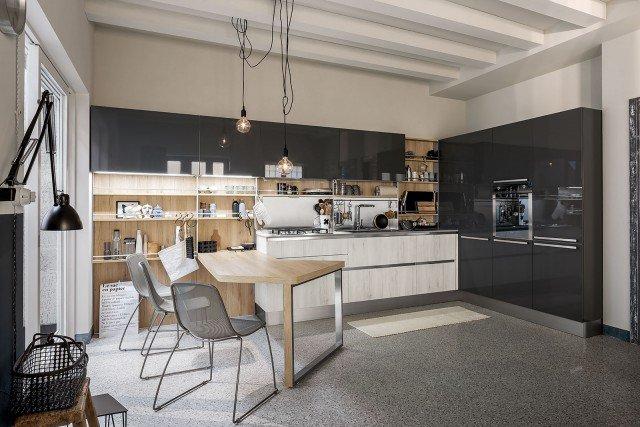 7-Veneta-Cucine-Start-Time.Go-Grigio-Atlantico,-Rovere-Chiaro-e-Medio