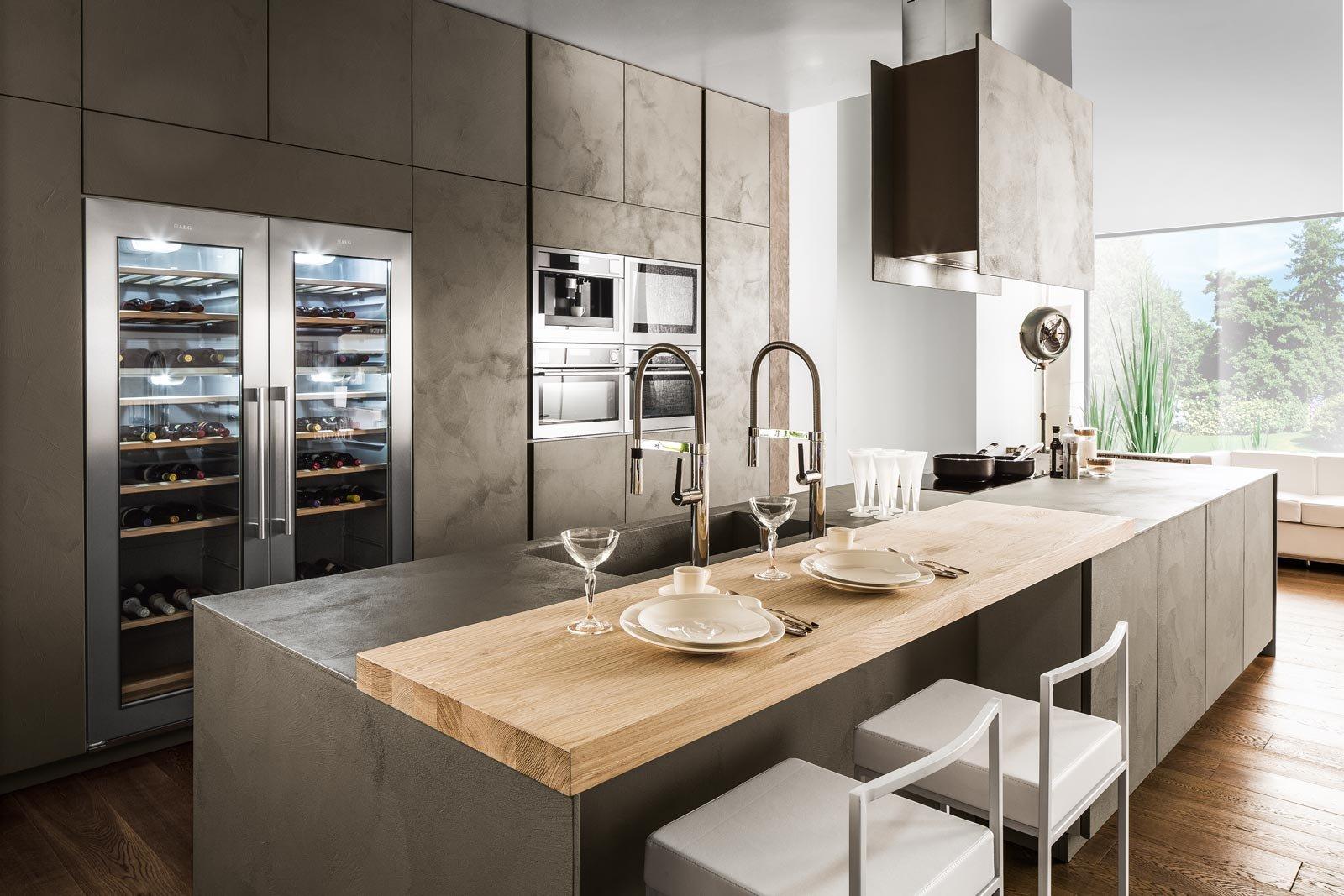 Eurocucina 2016 superfici soft touch per le nuove cucine for Cucine immagini