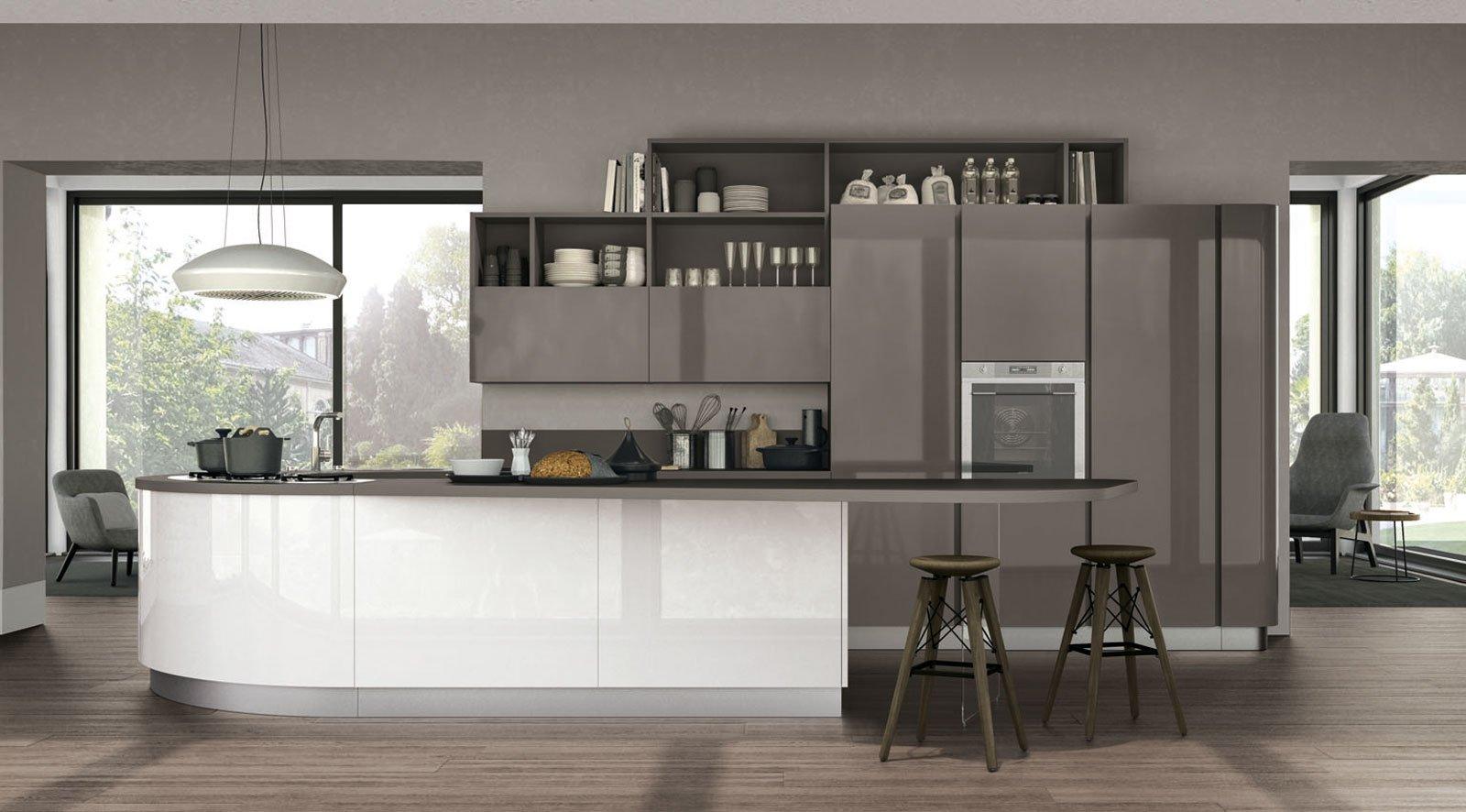 Cucine Bianco Grigio : Cucine in grigio di inaspettata freschezza novità eurocucina in