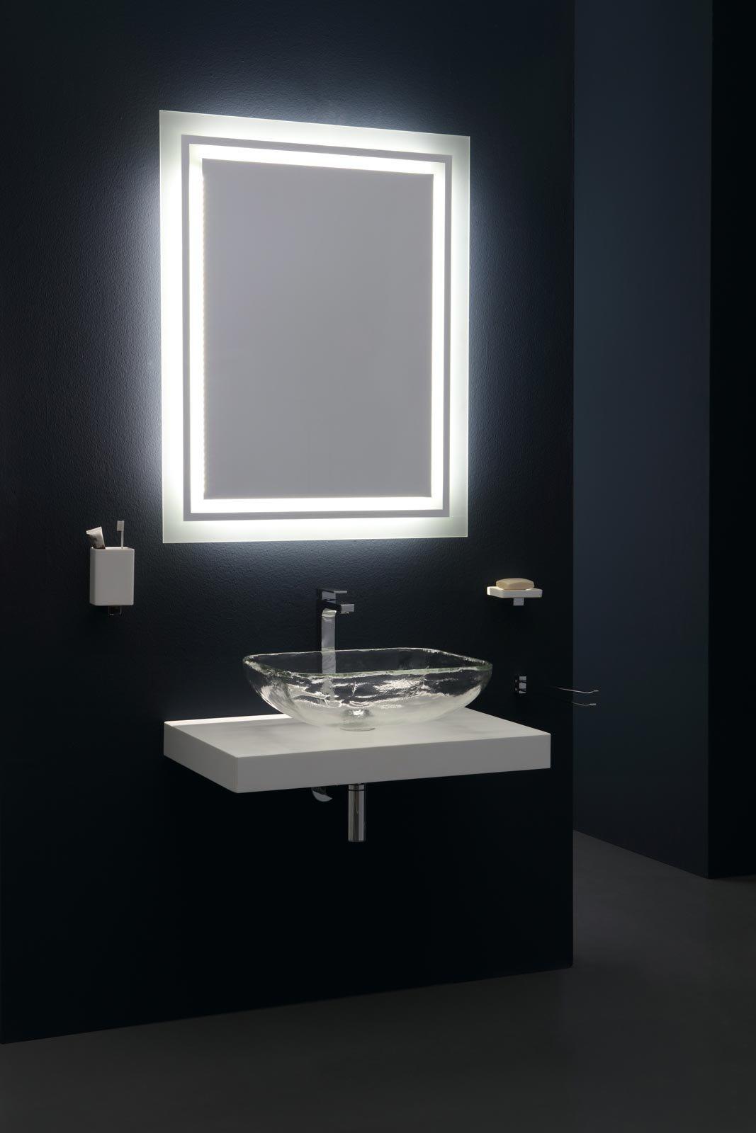 Specchi per arredo bagno mobile arredo bagno cm con - Specchi moderni bagno ...