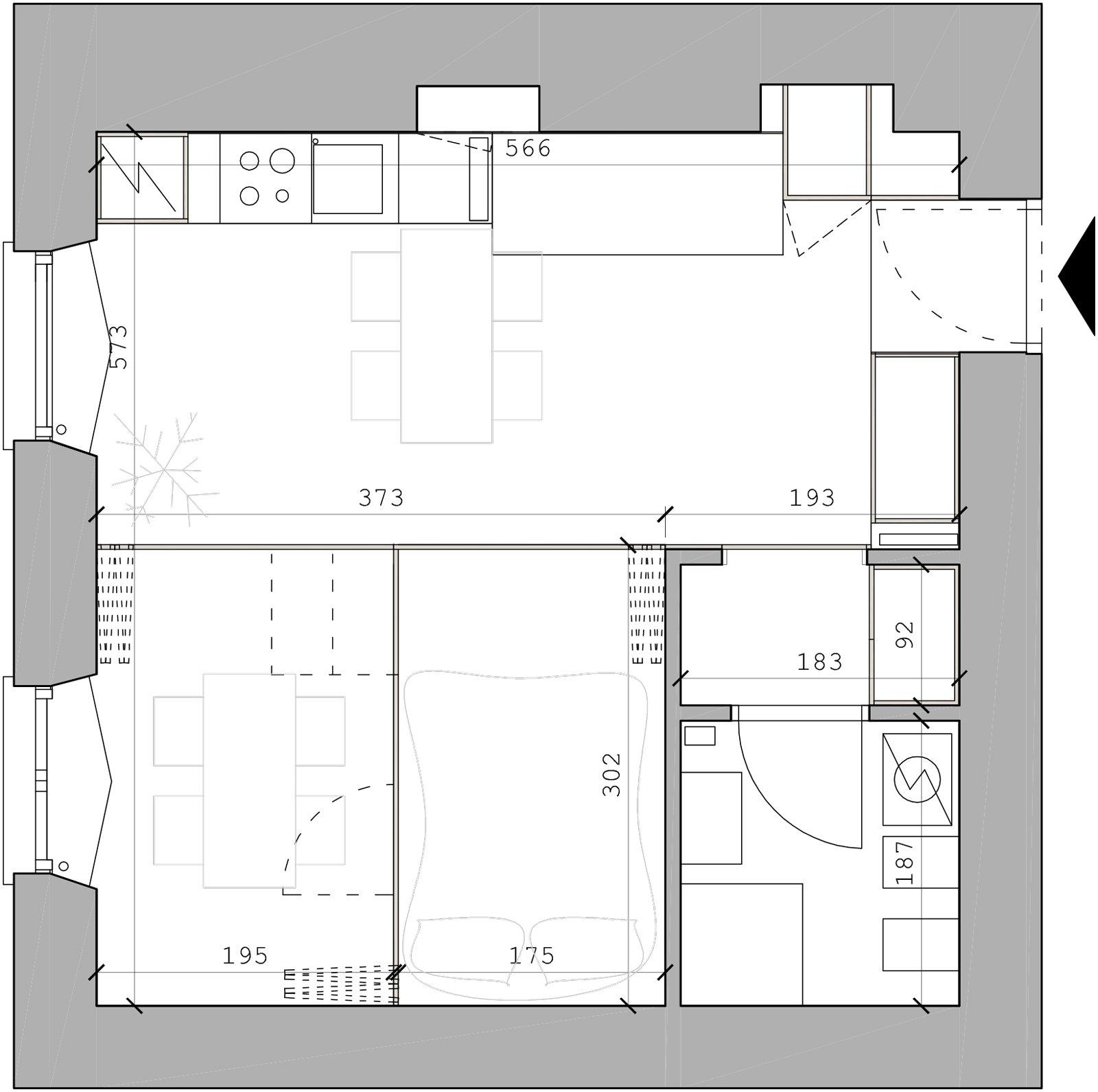 In 34 mq un bilocale trasformabile cose di casa - Finestre in pianta ...