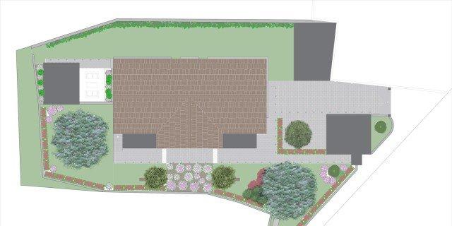 Un progetto per gli spazi esterni giardino cancellate e - Ingressi case moderne ...
