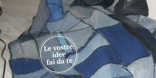 Trasformare jeans di diverso colore in telo copritutto