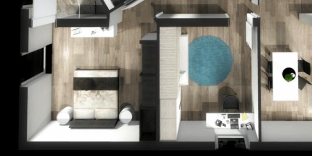 Ricavare una camera in più: progetto in 3D