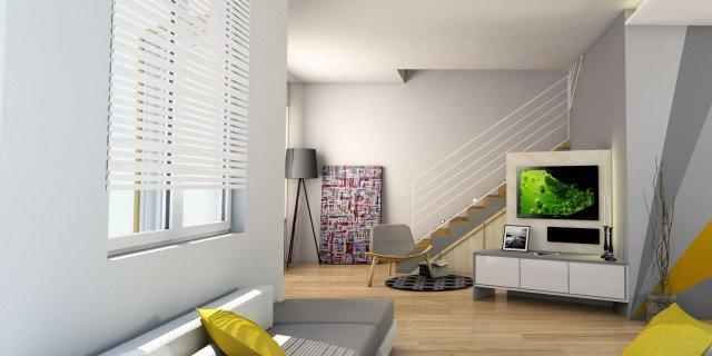 Arredare il soggiorno sfruttando anche lo spazio sotto la scala