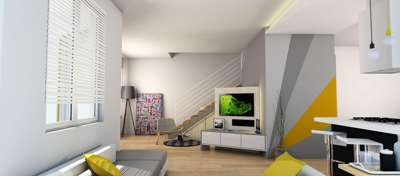 Arredare il soggiorno sfruttando anche lo spazio sotto la for Arredare nicchia soggiorno
