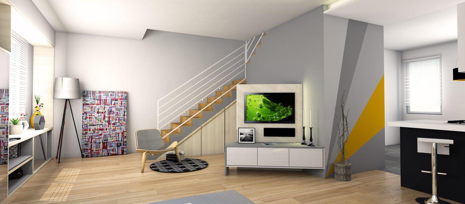 Arredare il soggiorno sfruttando anche lo spazio sotto la - Scala soggiorno ...