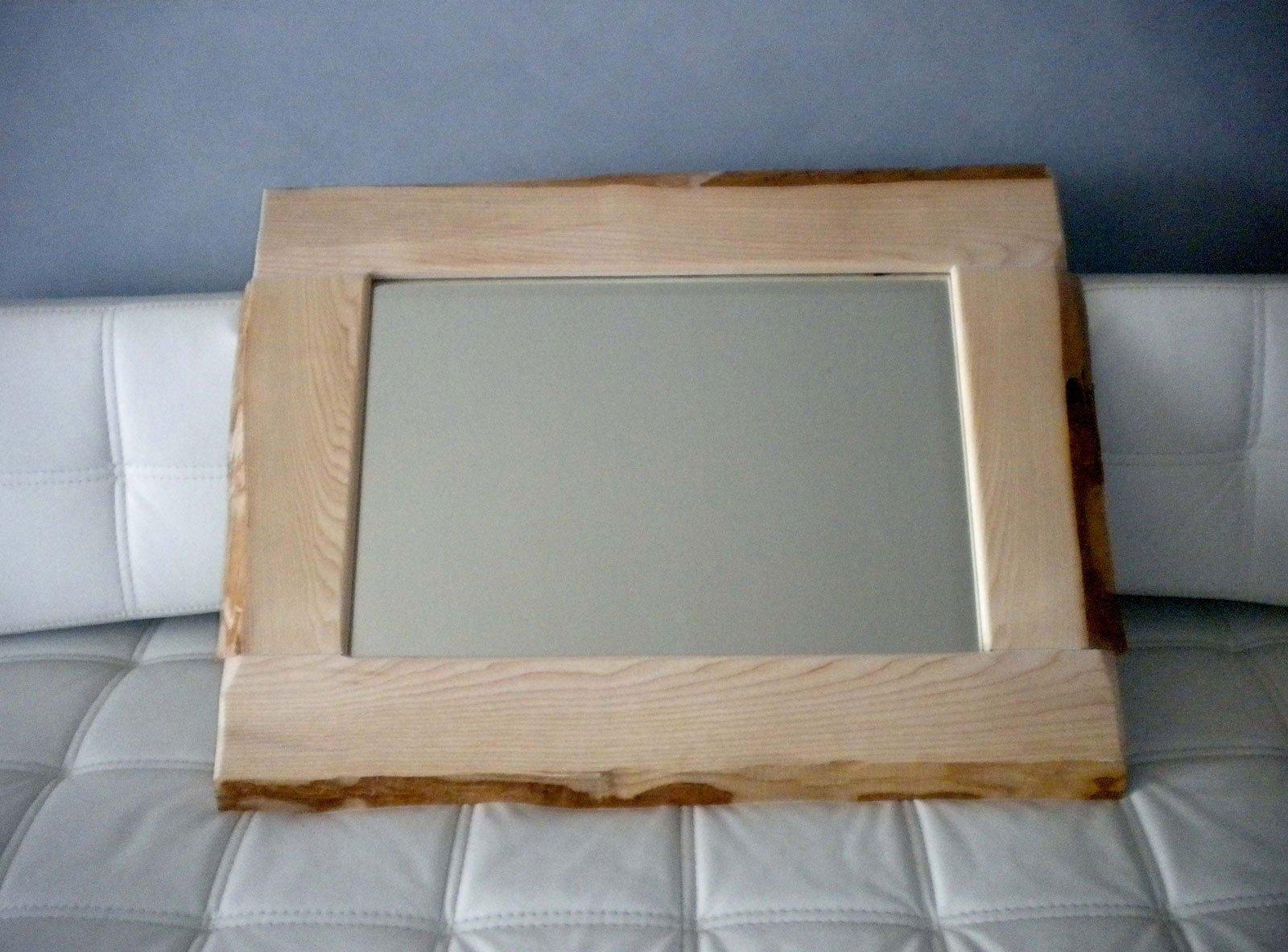 Specchio fai da te con legno e corteccia naturale   cose di casa