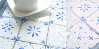 Vassoio decor con piastrelle disegnate