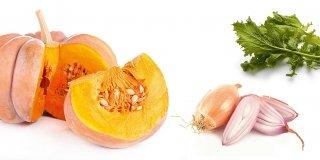 zucca tagliata e aglio