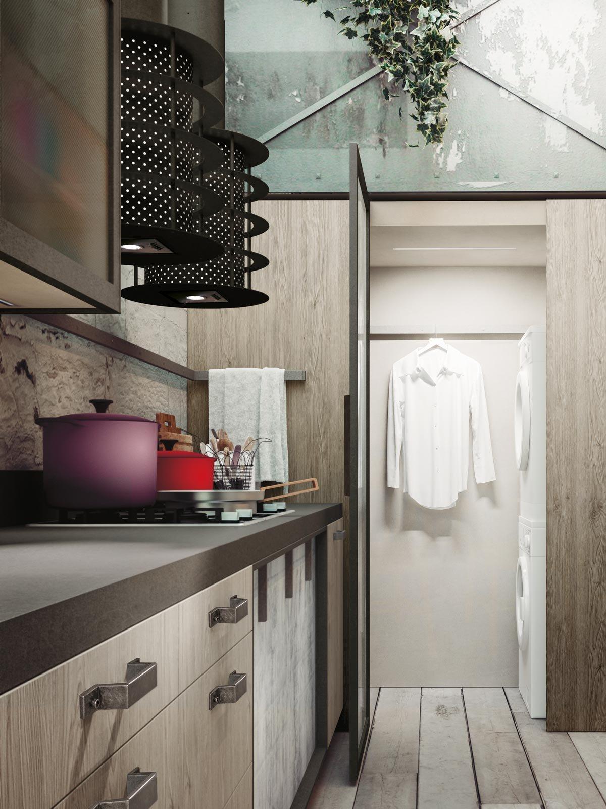 Piano Di Lavoro In Vetro : Cucine industrial style loft di snaidero cose casa