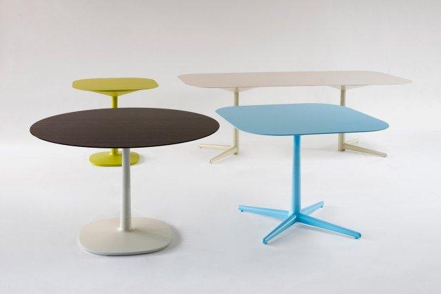 Multiplo di Kartell è la nuova famiglia di tavoli eclettici e versatili caratterizzati dal piano realizzato in ceramica sottilissima con finitura marmo e colorato in massa. Le gambe hanno la struttura in tecnopolimero termoplastico stampato. www.kartell.com