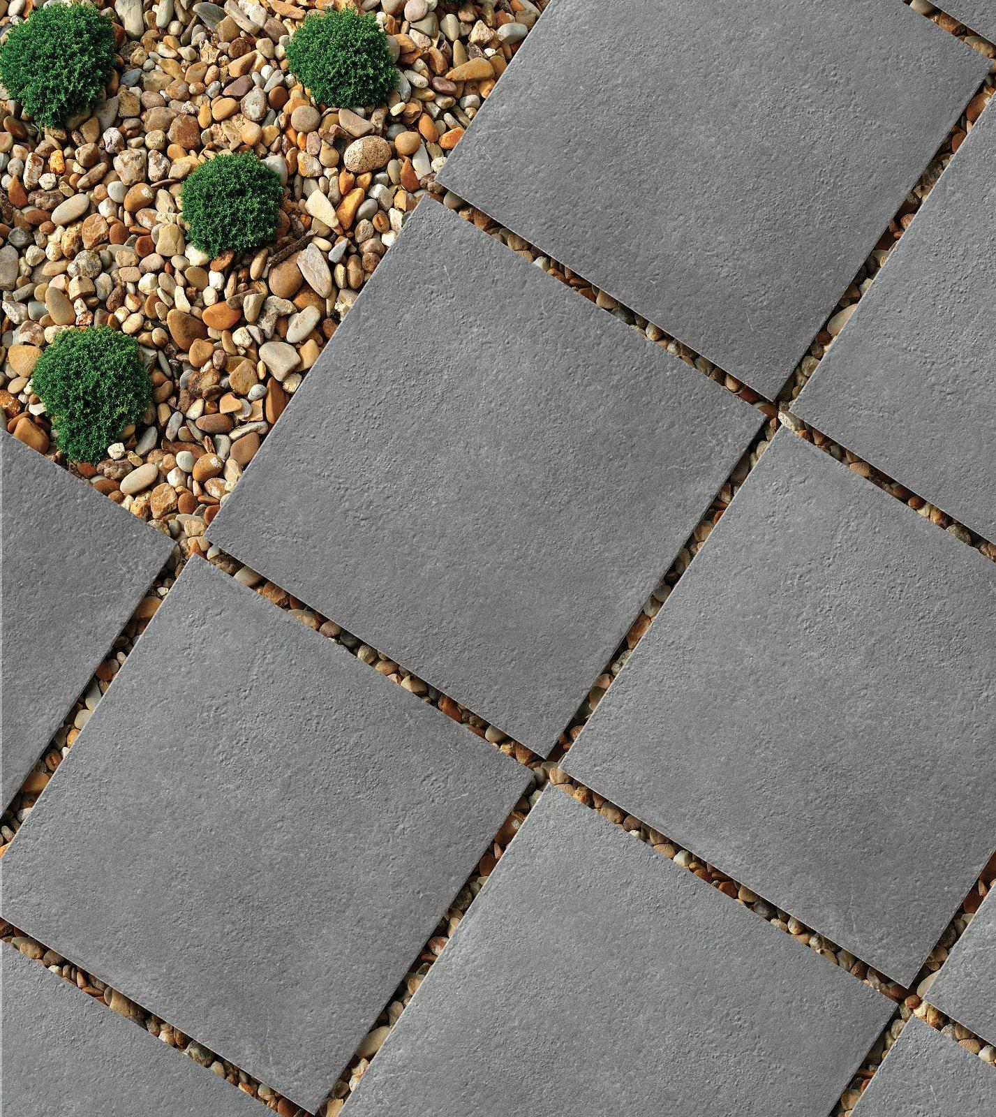 Posa Pavimento A Secco Giardino pavimenti per l'esterno, effetto legno e pietra in gres