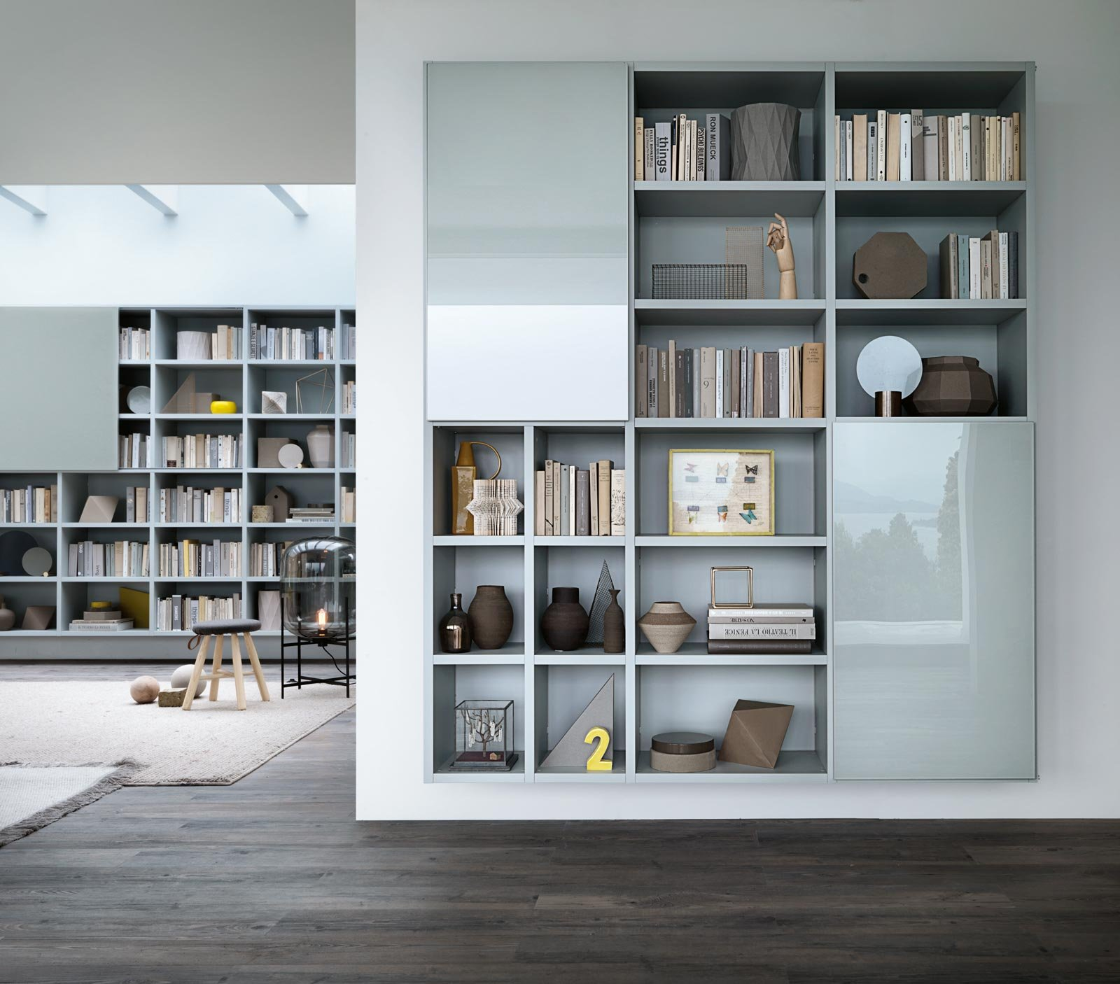 Mobili sospesi per il living o l 39 ingresso cose di casa for Librerie pensili componibili