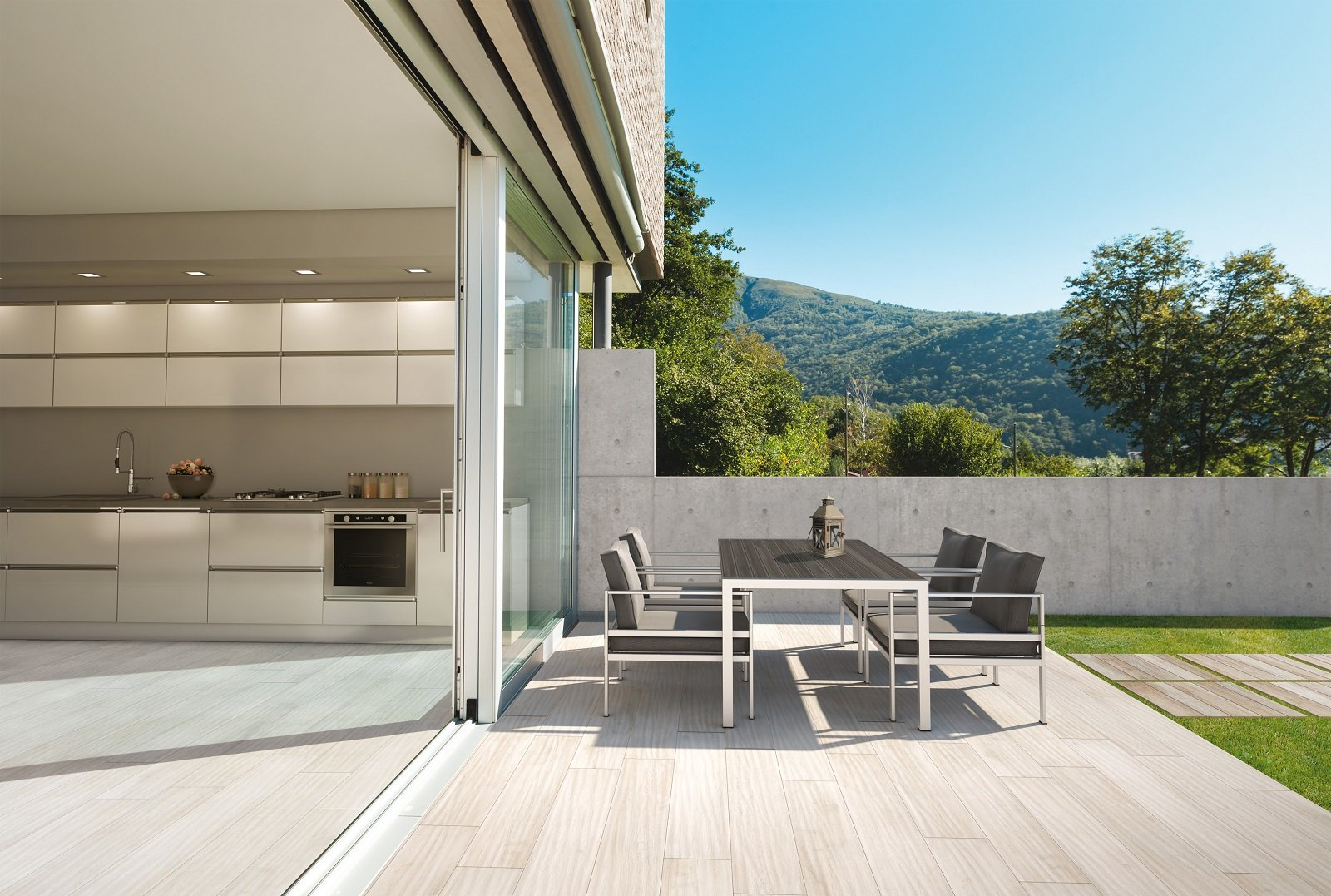 Pavimenti per l esterno effetto legno e pietra cose di casa - Gres porcellanato effetto legno esterno ...