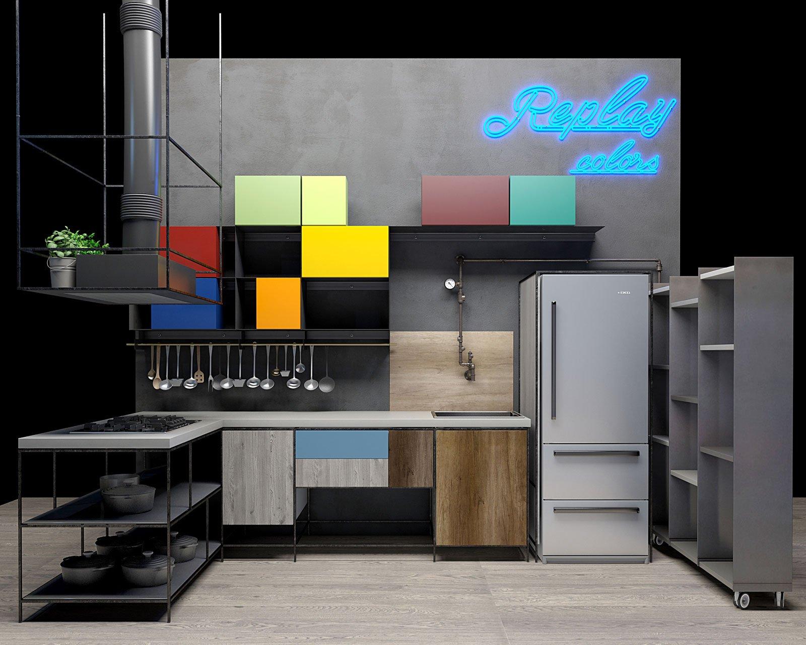 Stosa allestimento replay 01 cose di casa - Cucina replay stosa ...