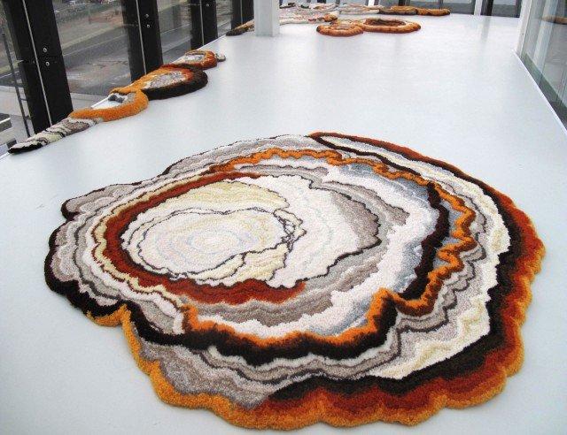 Tappeto-macchia-in-lana,-lavorato-a-mano-LIZAN-FREIJSENTufted-woolen-carpet