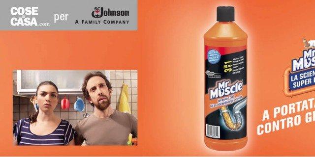 Problemi con lo scarico? Mr Muscle Idraulico Gel li risolve evitando discussioni in famiglia!