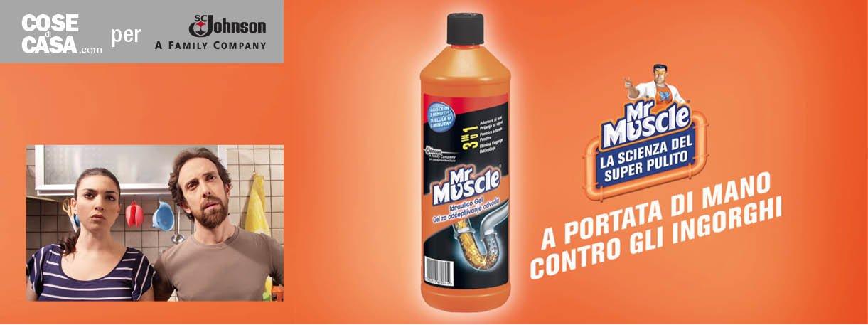Problemi con lo scarico mr muscle idraulico gel li risolve evitando discussioni in famiglia - Scarico cucina intasato ...