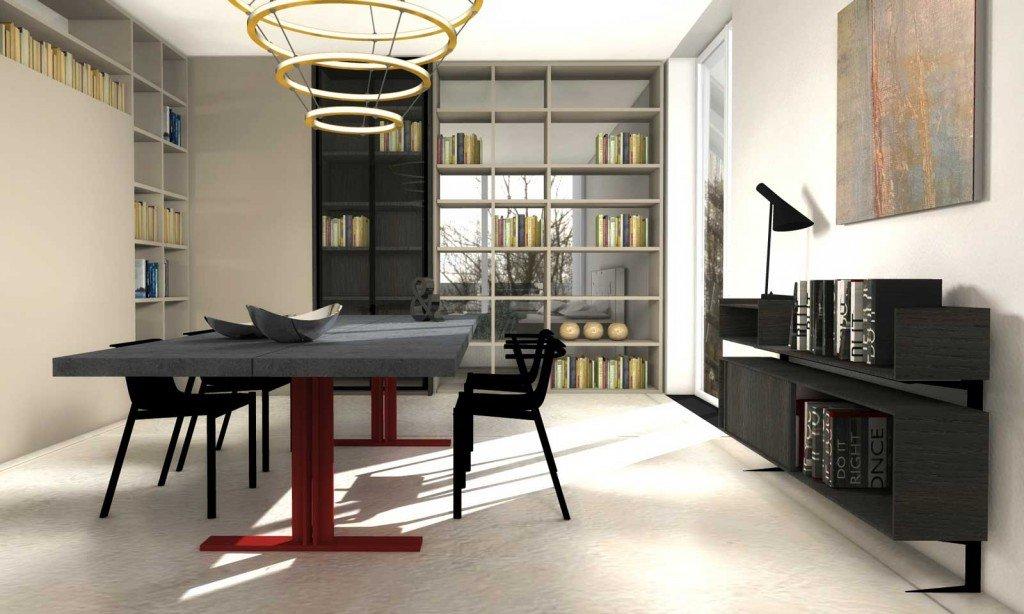 Dividere con i mobili bifacciali senza pareti progetto in 3d - Mobili bifacciali ...