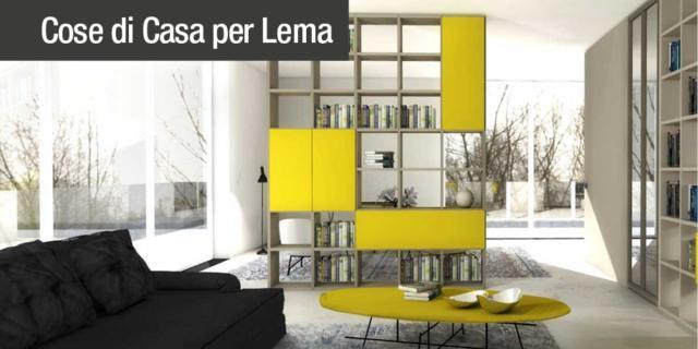 Dividere con i mobili bifacciali, senza pareti. Progetto in 3D