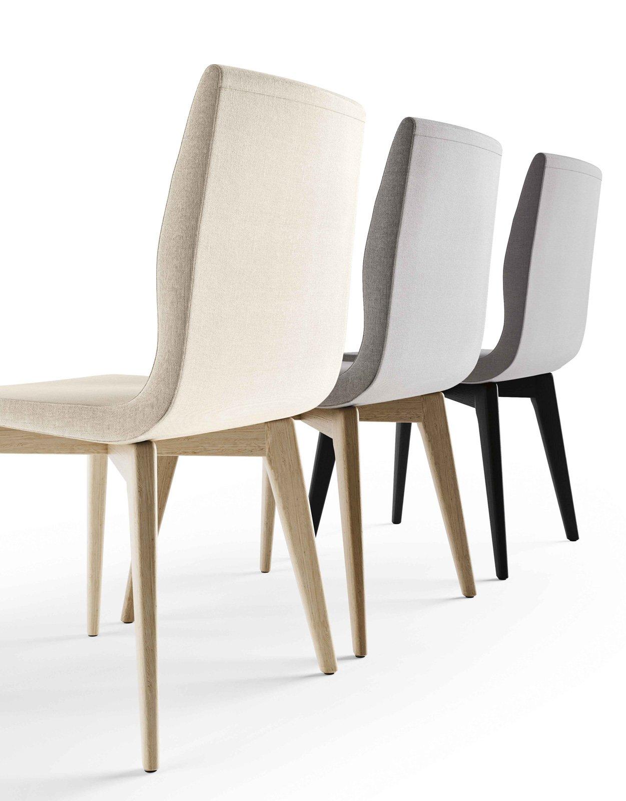 Tavoli e sedie in legno linee contemporanee nel solco for Sedie contemporanee