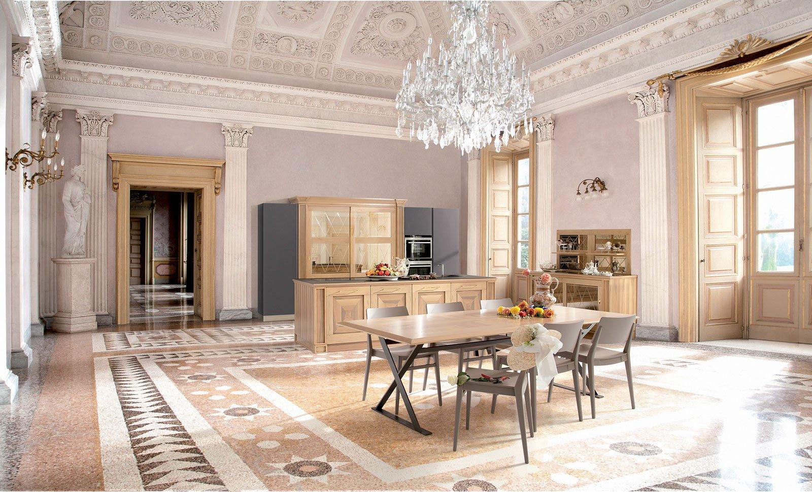 Cucine classiche in legno o laccate cose di casa for Foto di case arredate classiche