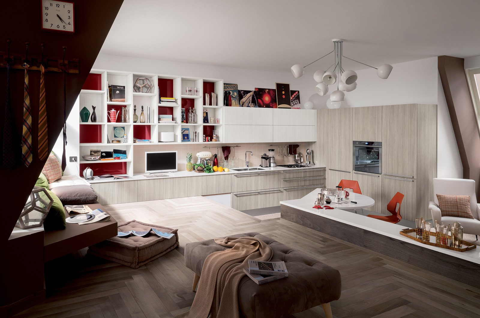 Cucine living con vani a giorno cose di casa - Cucine a giorno ...