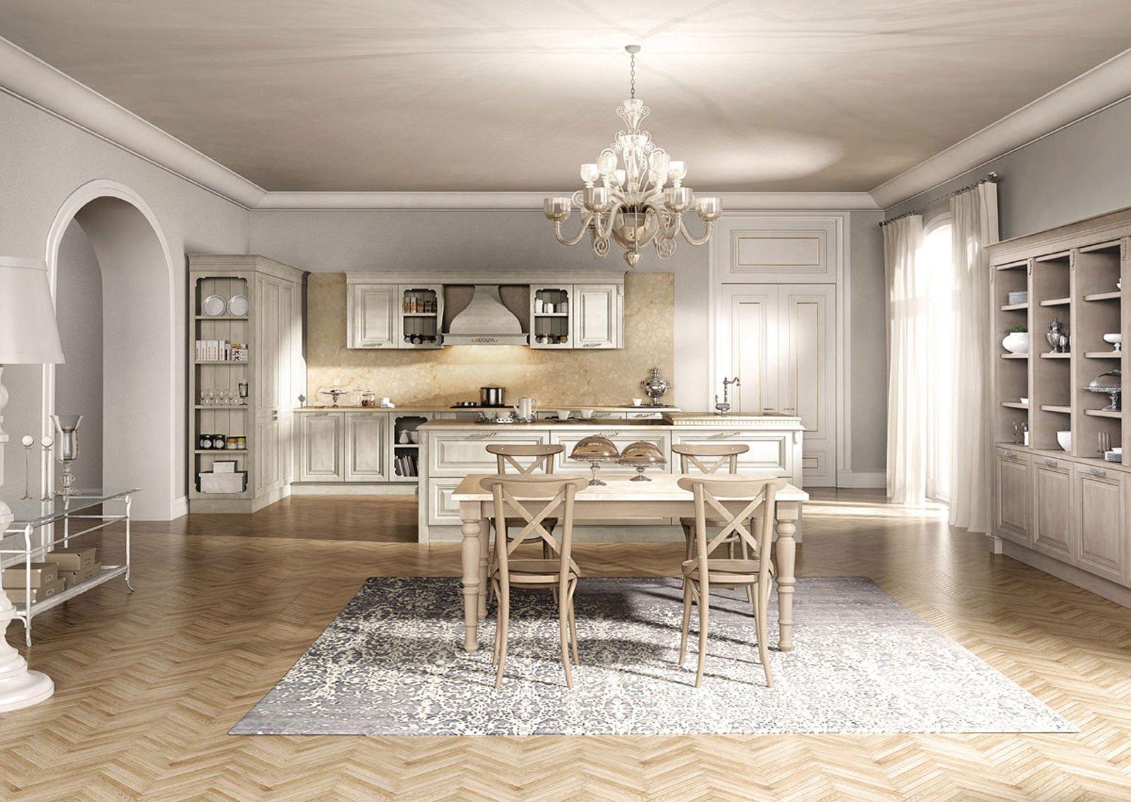 Cucine con zona pranzo la contemporaneit di una for Foto di case arredate classiche