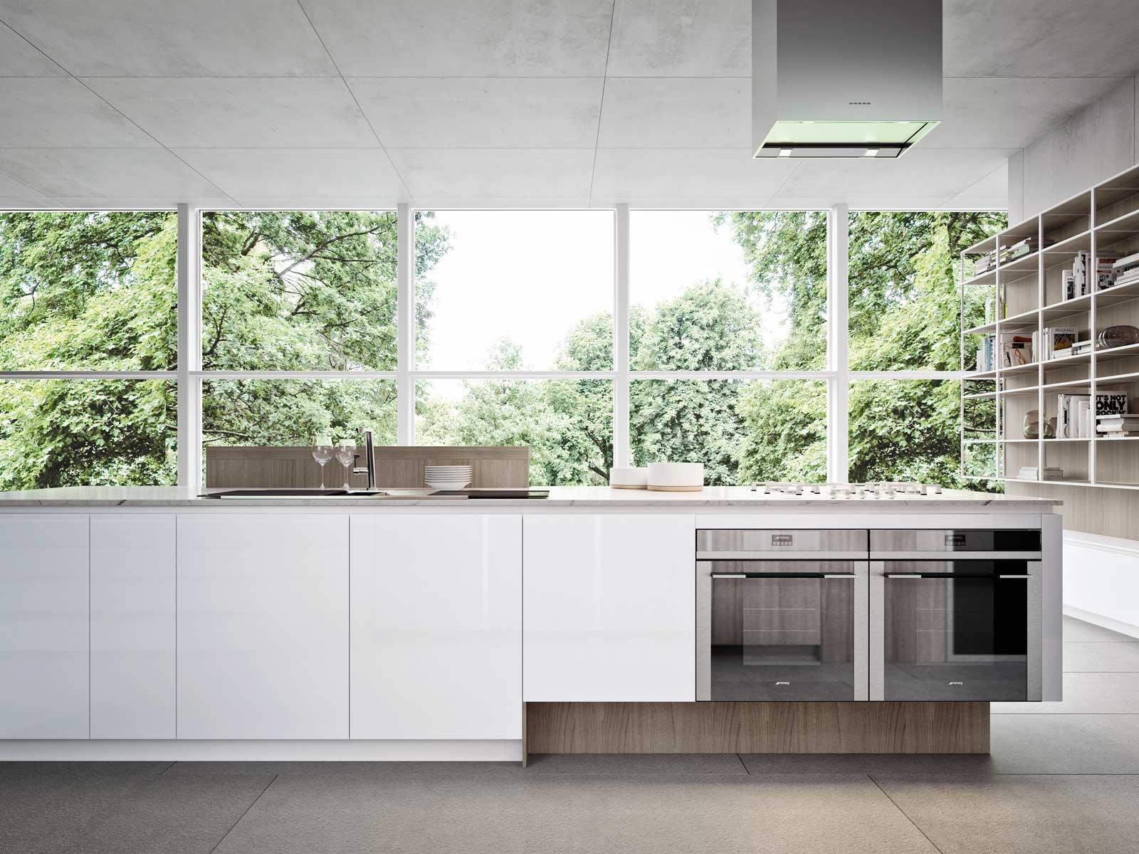 In cucina frigo e freezer sottopiano perfetti sotto la finestra nell 39 isola o nella penisola - Cucina senza frigo ...