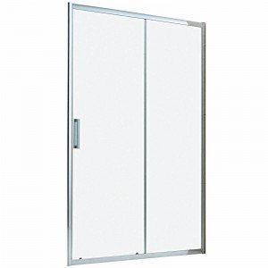 Porta doccia Manhattan 1 anta fissa + 1 scorrevole trasparente/cromo 116-120 cm.