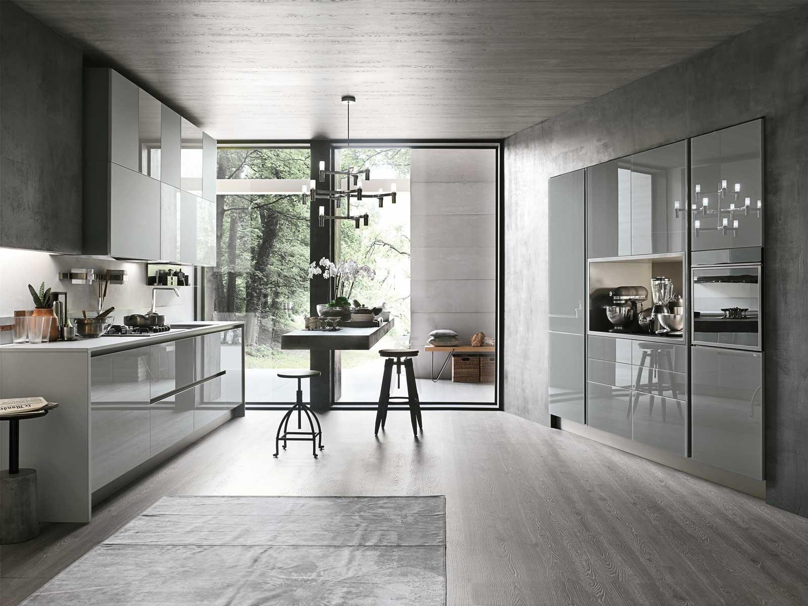 Cucine in vetro laccato cose di casa for Foto moderne