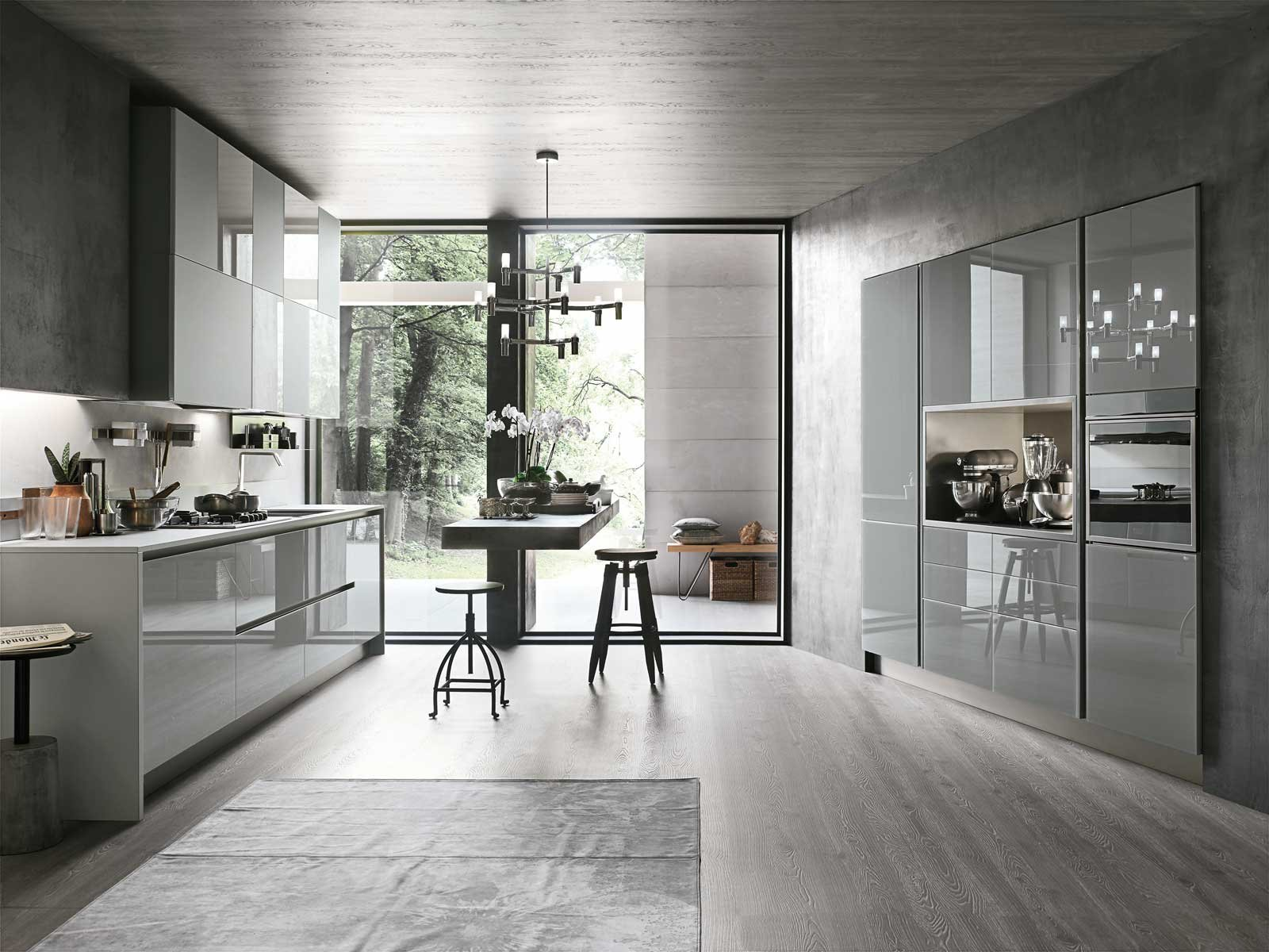 Cucine in vetro laccato cose di casa - Cucine foto moderne ...