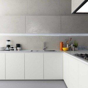 Cucine in vetro laccato cose di casa - Smalto per piastrelle cucina ...