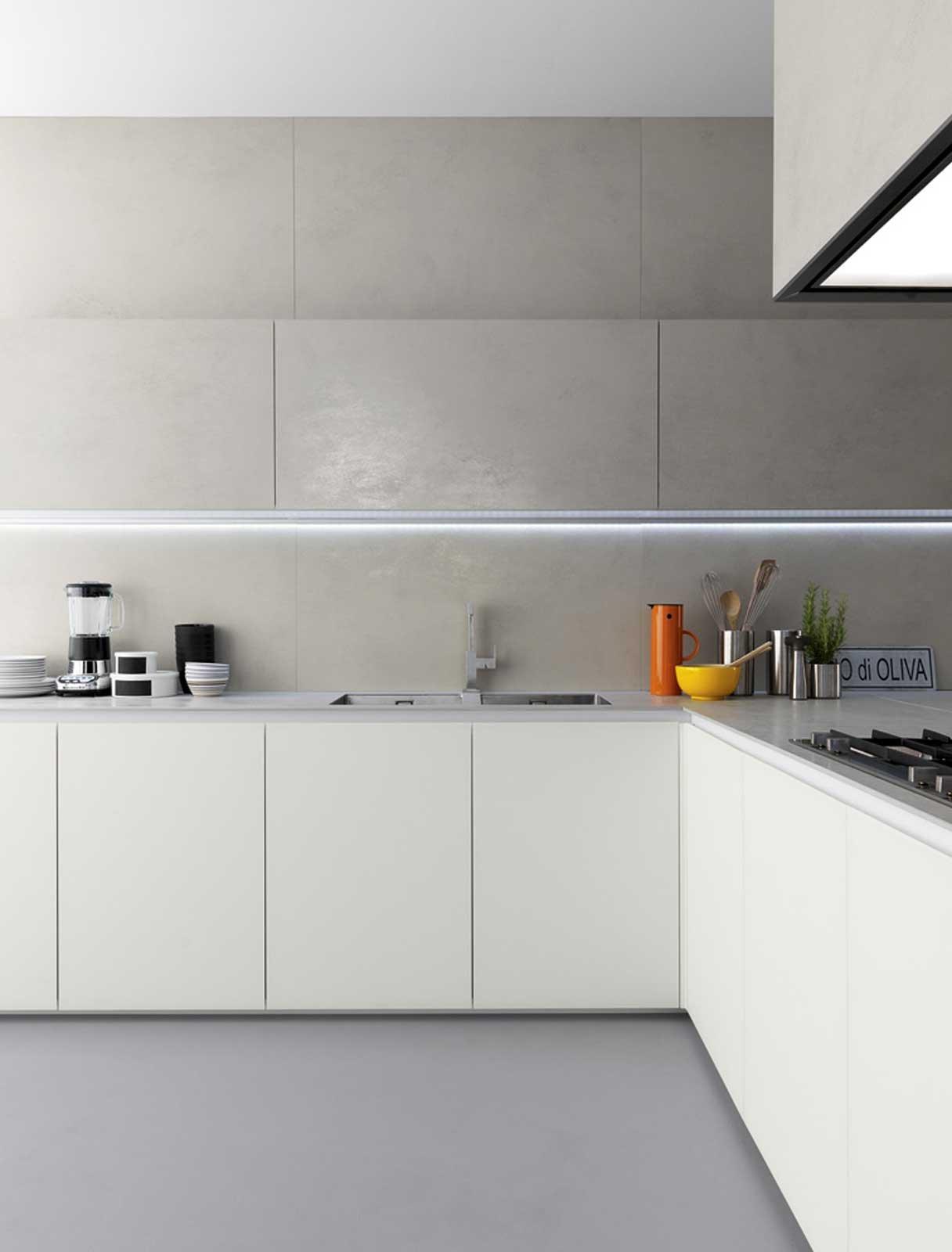 Cucine in vetro laccato cose di casa - Verniciare ante cucina legno ...