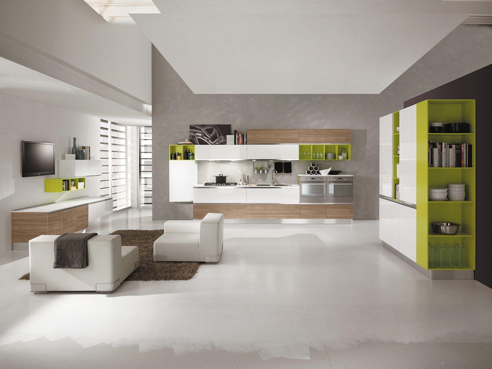 Cucine living con vani a giorno cose di casa - Elementi cucina componibile ...