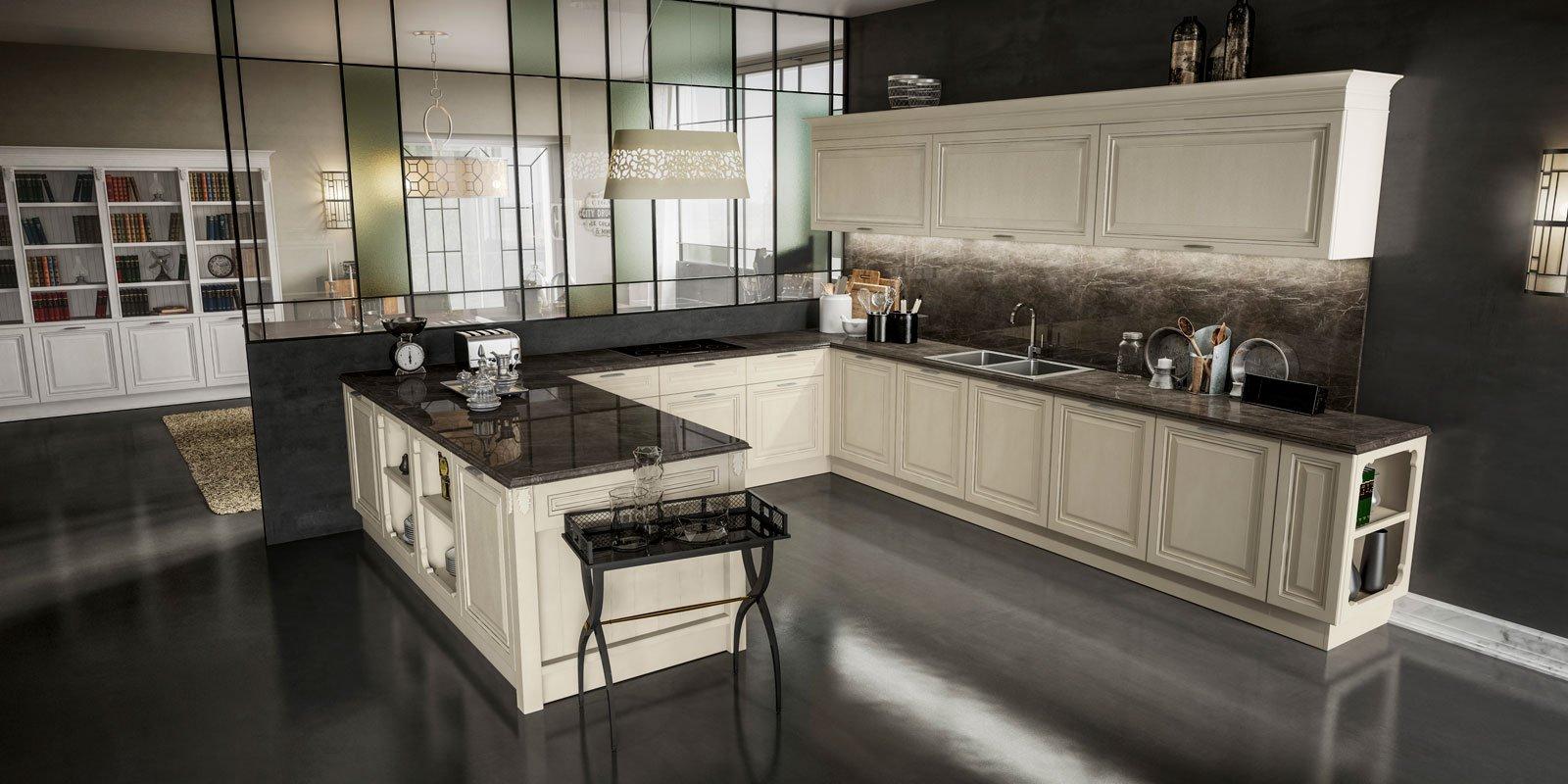Cucine classiche in legno o laccate cose di casa - Cucine classiche berloni ...