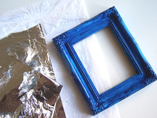 Decorare una cornice foglia argento   cose di casa