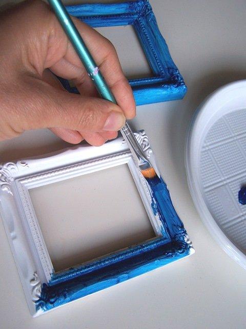 Decorare una cornice foglia argento - Cose di Casa